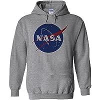 Nasa National Space Administration Logo White Men Women Unisex Hooded Sweatshirt Hoodie