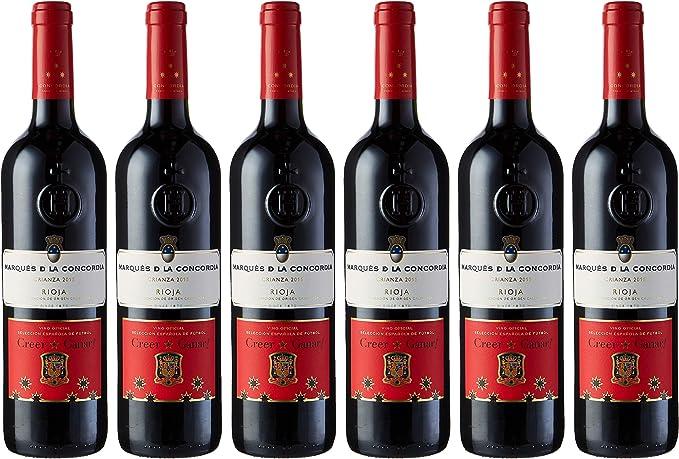 Caja de Marqués de la Concordia Selecc. Española Vino Tinto - 6 botellas x 750 ml. - 4500 ml: Amazon.es: Alimentación y bebidas