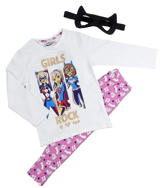 Girls DC Super Hero Pyjamas Harley Quinn Supergirl Batgirl (4-5 Years) 71ce73159