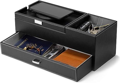 HOUNDSBAY Captain Dresser Nightstand Valet Organizer Storage Box