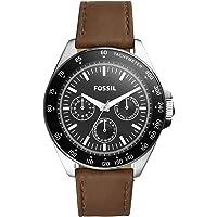 """Fossil""""Neale"""" Reloj de cuarzo de acero inoxidable y piel para hombre, color: café (Modelo: BQ2294)"""