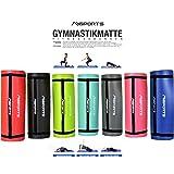 Gymnastikmatte Studio 183 x 61 x 1 cm oder 183 x 61 x 1,5 cm | inkl. Übungsposter und Tragegurte | Hautfreundliche - Phthalatfreie Fitnessmatte - in verschiedenen Farben - sehr weich | Yogamatte