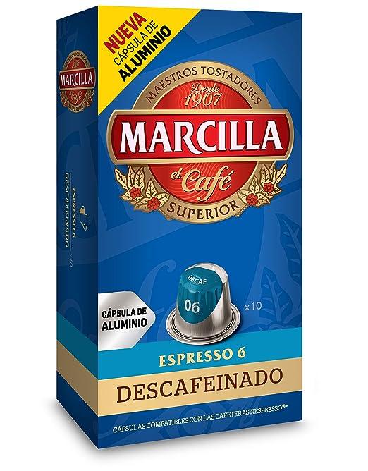Marcilla Descafeinado Café Molido en Capsulas - 10 Unidades: Amazon.es: Amazon Pantry