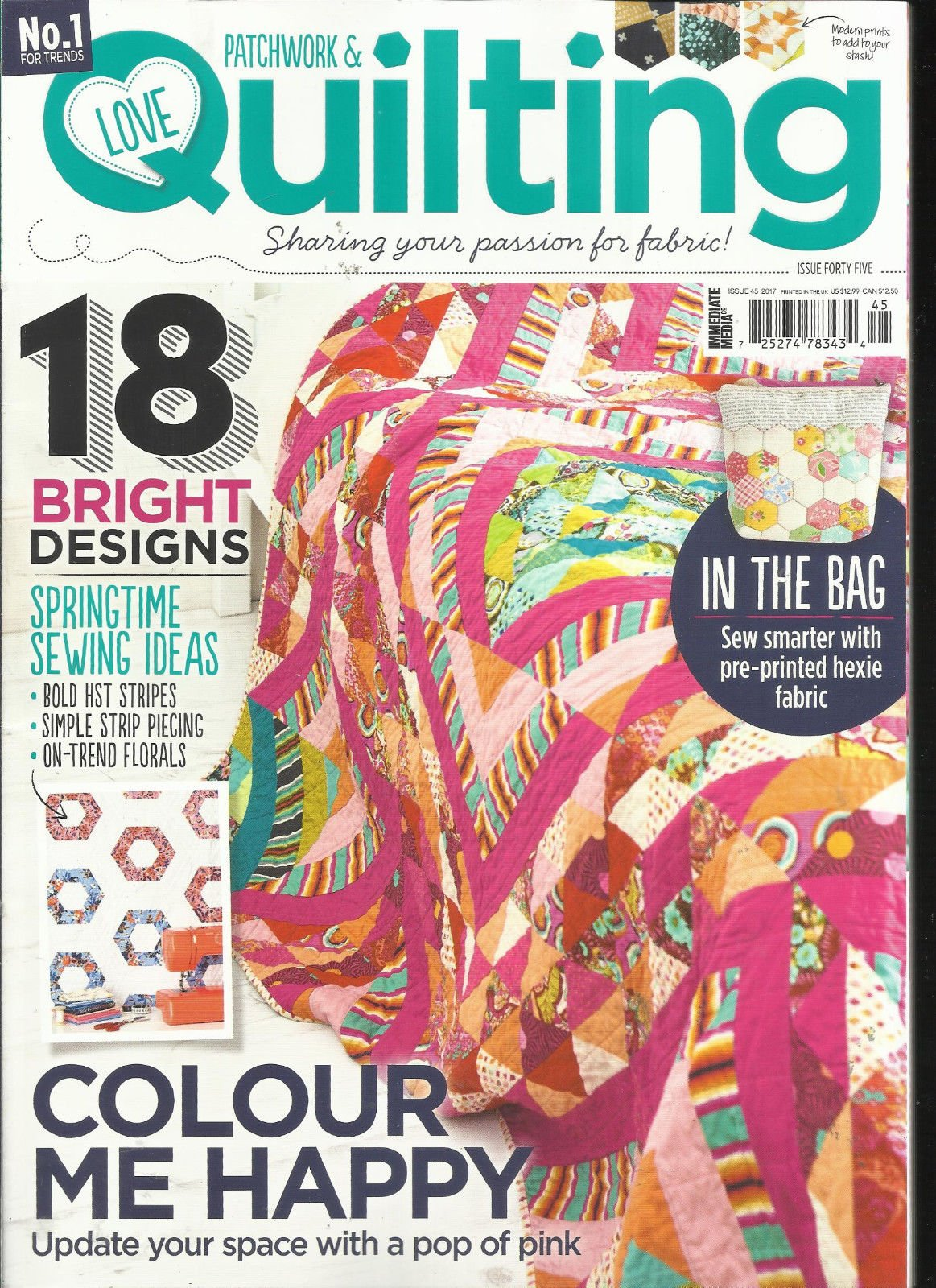 PATCHWORK & LOVE QUILTING, SHARING YOUR PASSION FOR FABRIC! ISSUE, 2017 NO.45