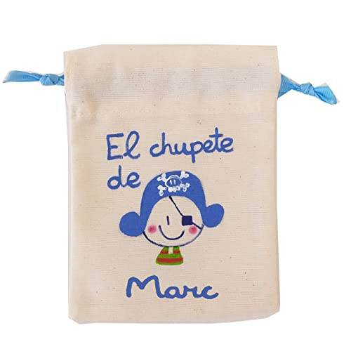 Bolsa Chupete personalizada bucanero: Amazon.es: Handmade