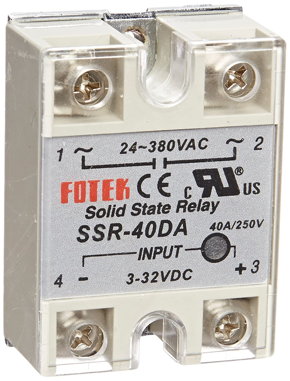 Lightobject ESSR40DAC Solid State Relay DC In AC Out 40 Amp - Solid State Relay Brands