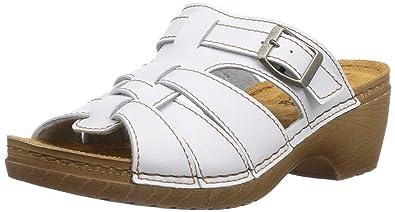 Vista Damen Pantoletten Weiß, Größe:40, Farbe:Weiß