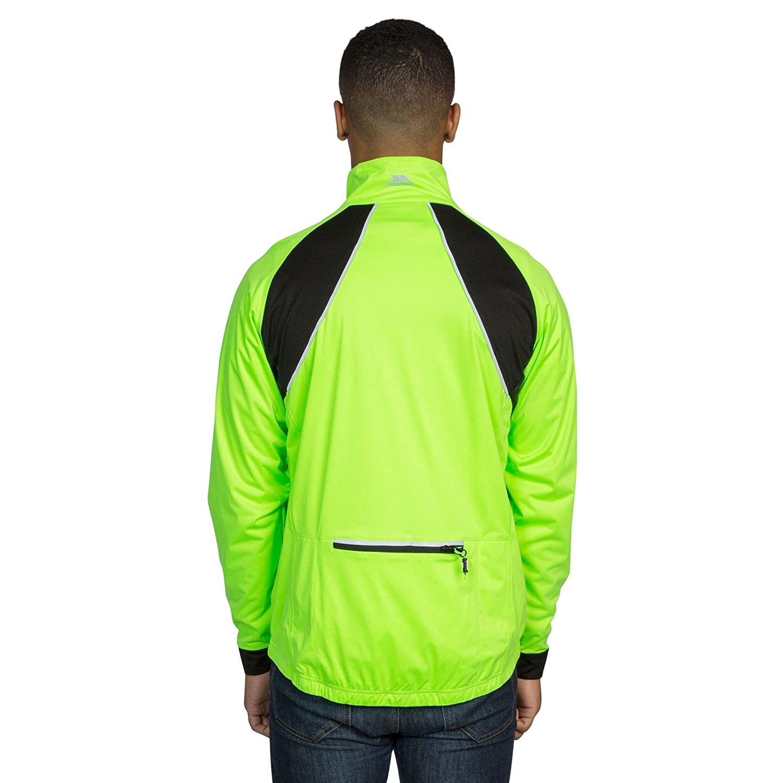 Trespass Blocker Mens Hi VIS Active Waterproof Coat Reflective Cycling Jacket