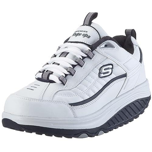 Skechers 50875 - Zapatillas de cuero para hombre, color blanco, talla 42: Amazon.es: Zapatos y complementos