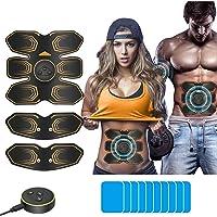 ANLAN Electroestimulador Muscular Abdominales, EMS Estimulador, Abdomen/Brazo/Piernas Entrenador Muscular con USB…