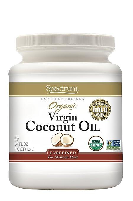 Spectrum Organic Virgin Coconut Oil, Unrefined, 54 Ounce