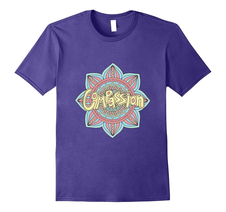 COMPASSION Coloring Mandala Motivational Gift Design T-Shirt-Art