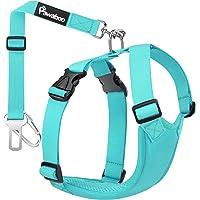 Pawaboo Cinturón de Arnés de Chaleco de Seguridad para Perros, Mascotas Arnés Ajustable para Automóvil con Hebilla…