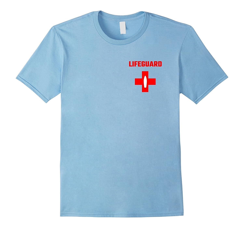 Lifeguard Pocket Red Cross White Board Swimming Pool T-Shirt-BN
