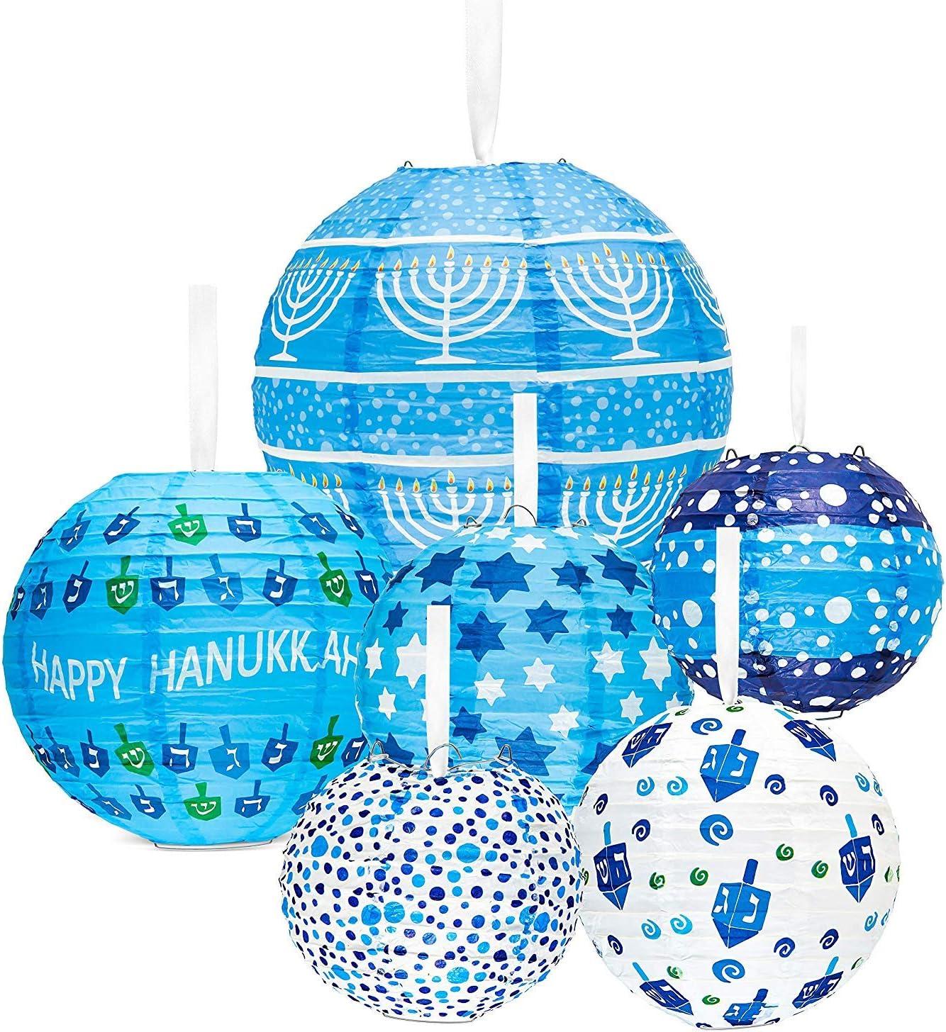 Hanukkah Hanging Ball Lanterns Ornaments (6-Pack) - Hanukkah Decorations!