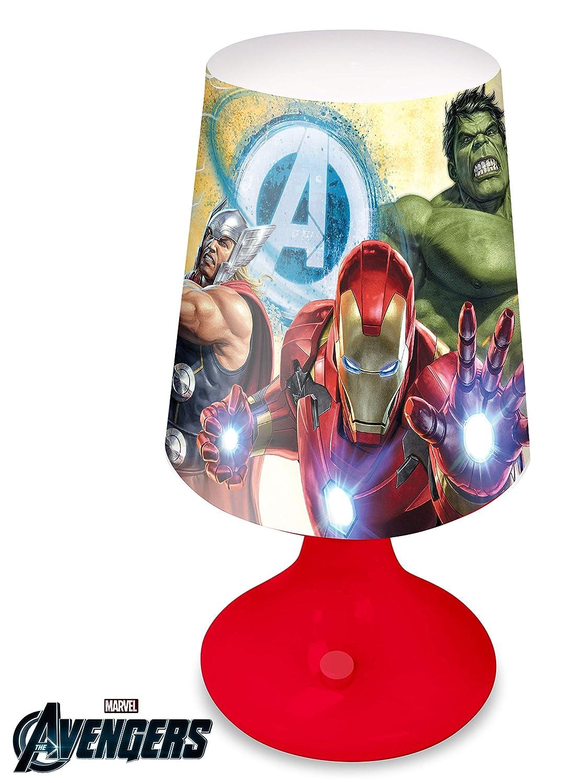 Kids Avengers Lampada scrivania A Batterie 18 x 9 cm, Vari MV15440