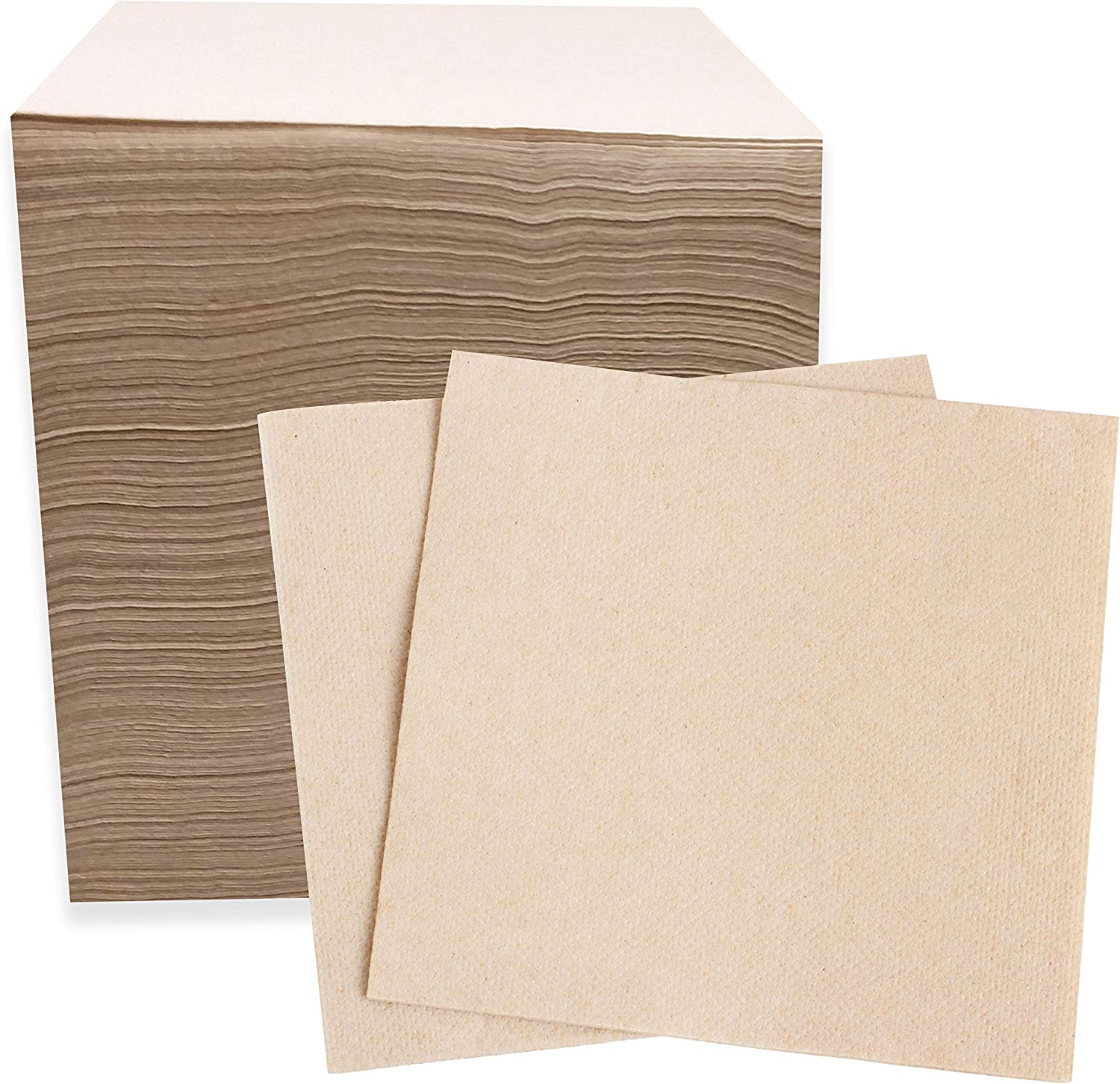 Recycled Post Consumer Napkins, 250 Compostable Eco Lunch Biodegradable Napkins