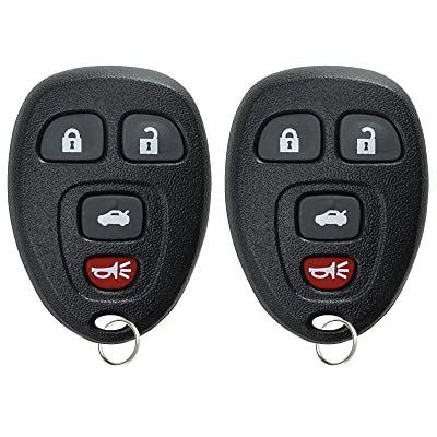 KeylessOption Keyless Entry Remote Control Car Key Fob Replacement for 15252034 (Pack of 2): Automotive