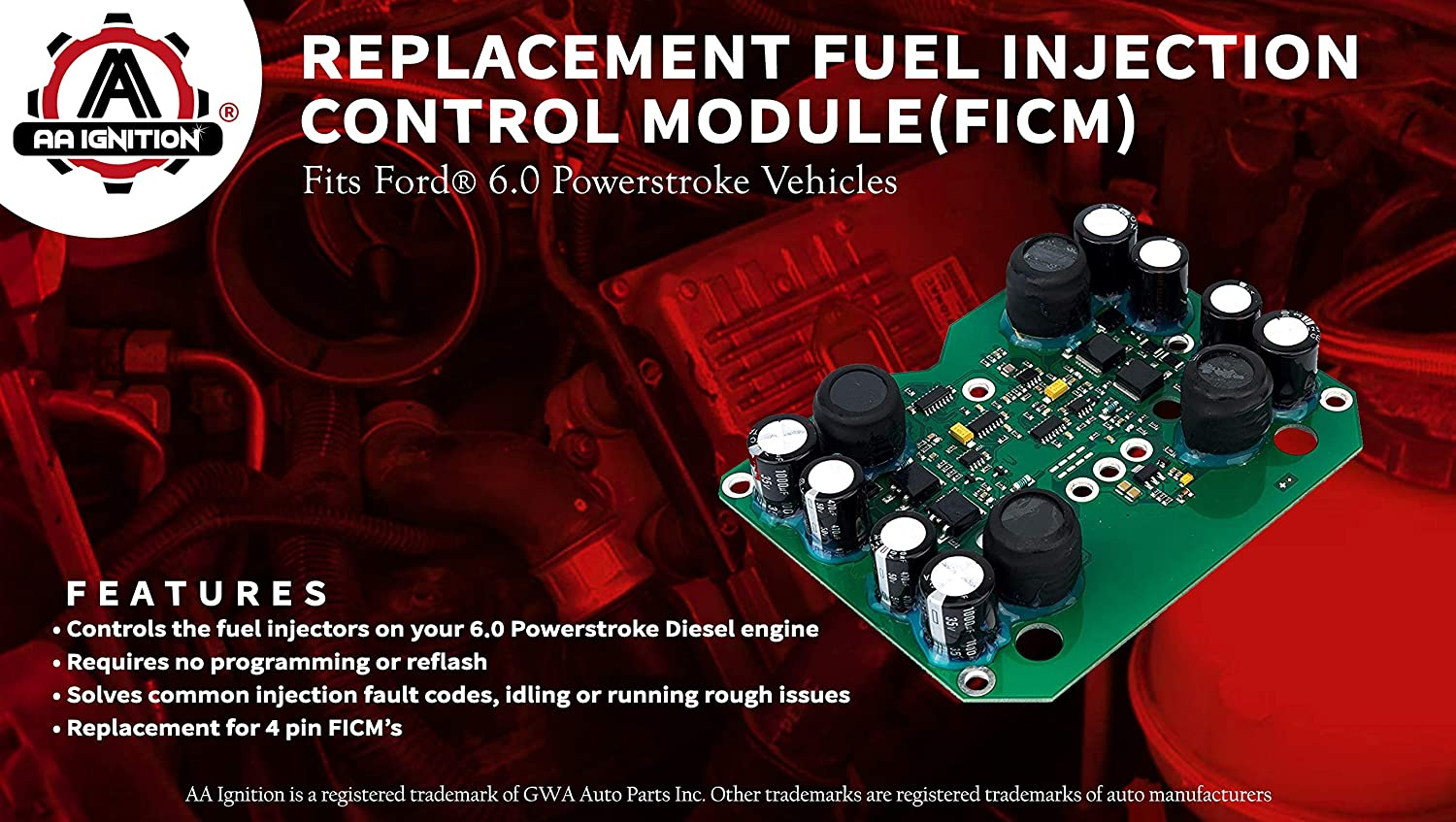 Ficm 60 Powerstroke Fuel Injection Control Module 2006 Ford F 250 Filter Location Fits F250 F350 F450 F550 Excursion 60l Diesel Super Duty Replaces 904 229