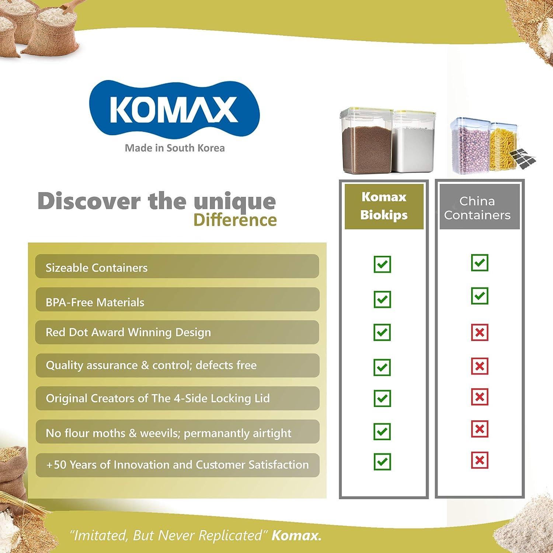 Komax biokips Tall grande cuadrado alimentos almacenamiento ...