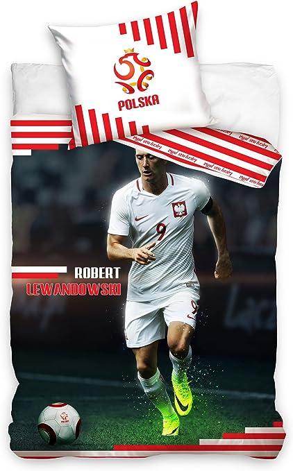 Robert Lewandowski Fußball Bettwäsche Football Bed Linen 160 x 200 cm