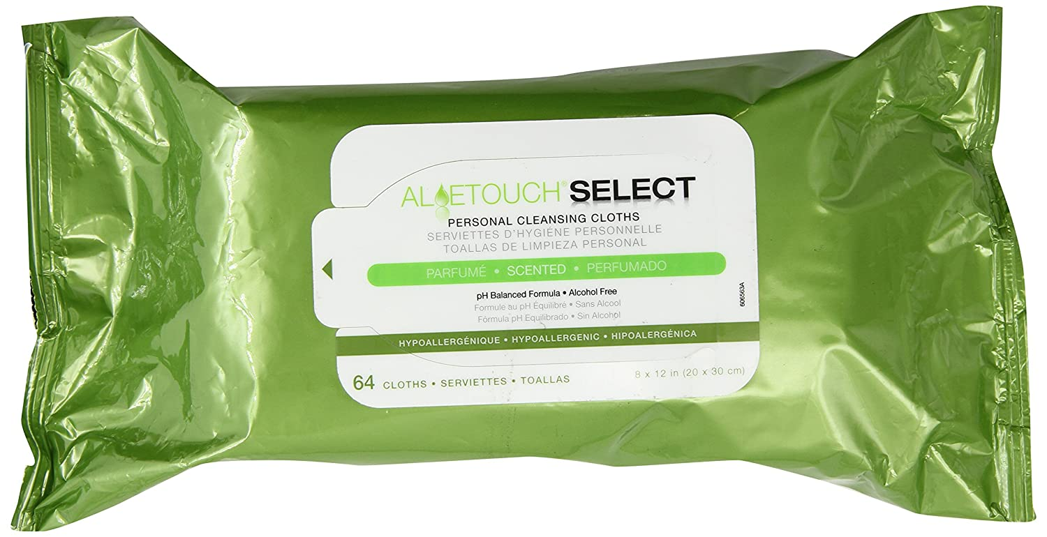 Amazon.com: Medline Aloetouch Select Premium Spunlace Personal Cleansing Wipes, 64 Count: Health & Personal Care
