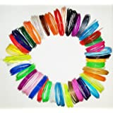 3D Printing Pen Filament Sample Pack - 40 Colors - 800 Feet - Non-Toxic - 1.75mm PLA Filament - 20 Ft Per Color - 5 Glow in the Dark Colors Included