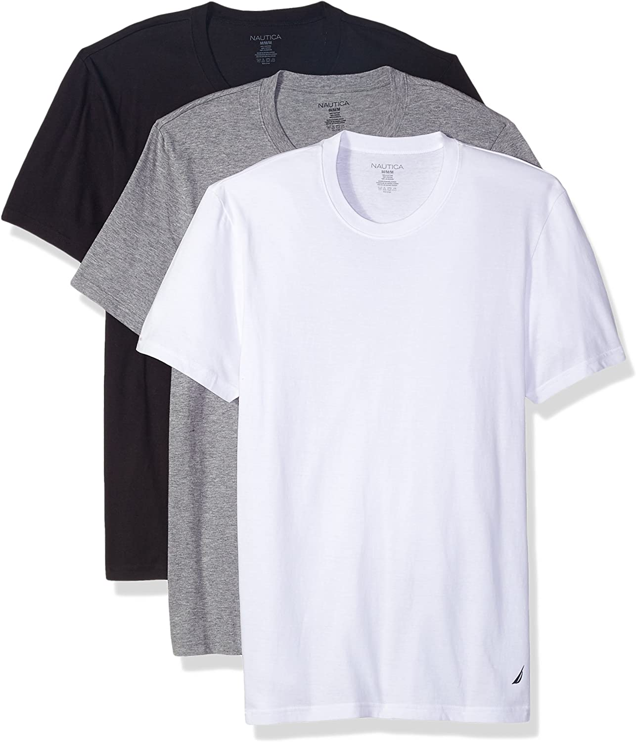 Cotton Crew Neck T-Shirt-Multi Packs at  Men's Clothing store
