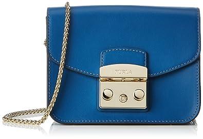 Furla Metropolis Mini Crossbody, Women's Cross-Body Bag, Blue (Blu Pavone D