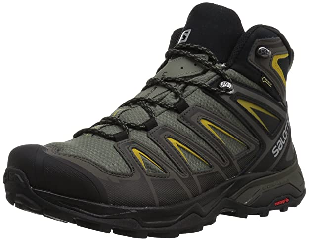 Salomon Men's X Ultra 3 Wide Mid GTX Hiking Boot, Castor Gray, 12 W US best men's hiking shoes