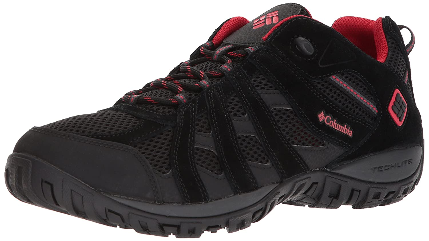 Columbia Men's Redmond Hiking Boot B073WFKG5J 8 W US|Black, Mountain Red