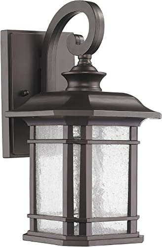 Chloe Lighting CH22021RB17-OD1 Franklin Transitional 1-Light Rubbed Bronze Outdoor Wall Sconce 17 Height