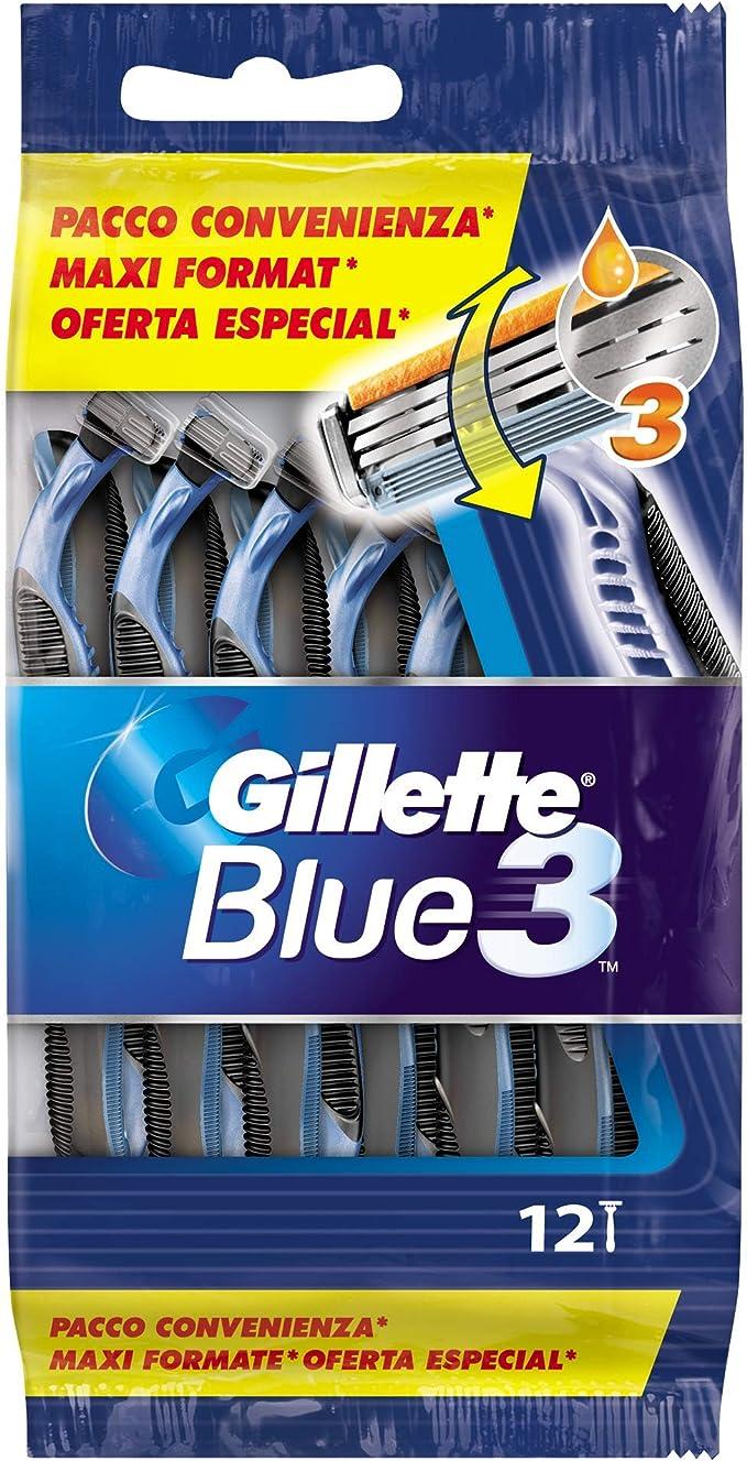 Gillette Blue3 Maquinillas Desechables Para Hombre - 12 unidades ...