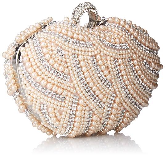 80b74b42ced Damara Womens Luxury Special Crystals Beaded Pearl Clutch Bag ...