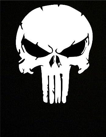 PICK SIZE COLOR Punisher Skull Vinyl Decal Sticker Window Glass Body