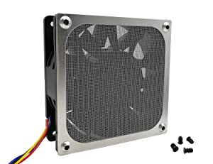 120mm Computer Fan Filter Grills with Screws, Ultra Fine Aluminum Mesh, Silver Color - 4 Pack (Color: 120mm-silver)