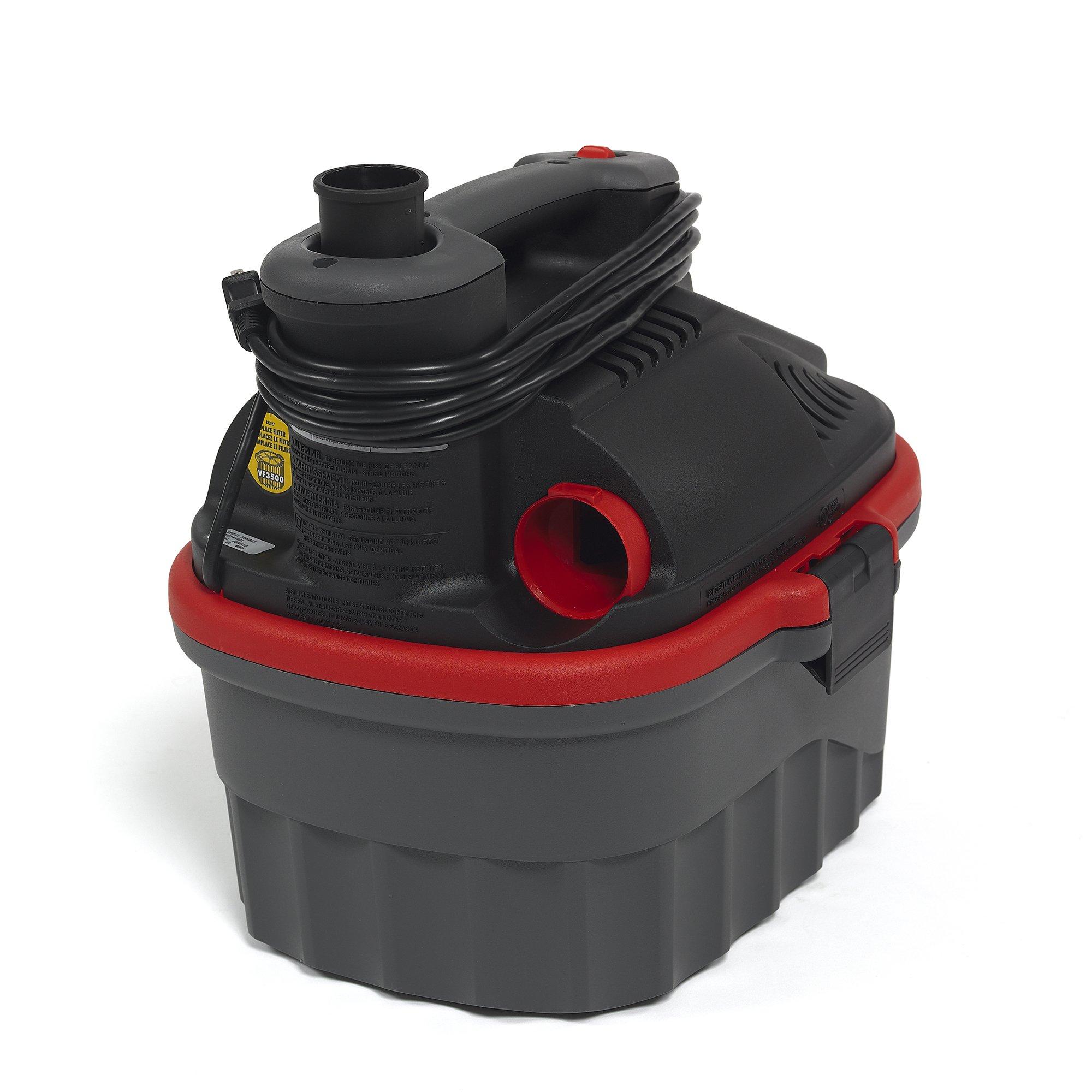 RIDGID 50313 4000RV Portable Wet Dry Vacuum, 4-Gallon Small Wet Dry Vac with 5.0 Peak HP Motor, Pro Hose, Ergonomic Handle, Cord Wrap, Blower Port by Ridgid (Image #2)
