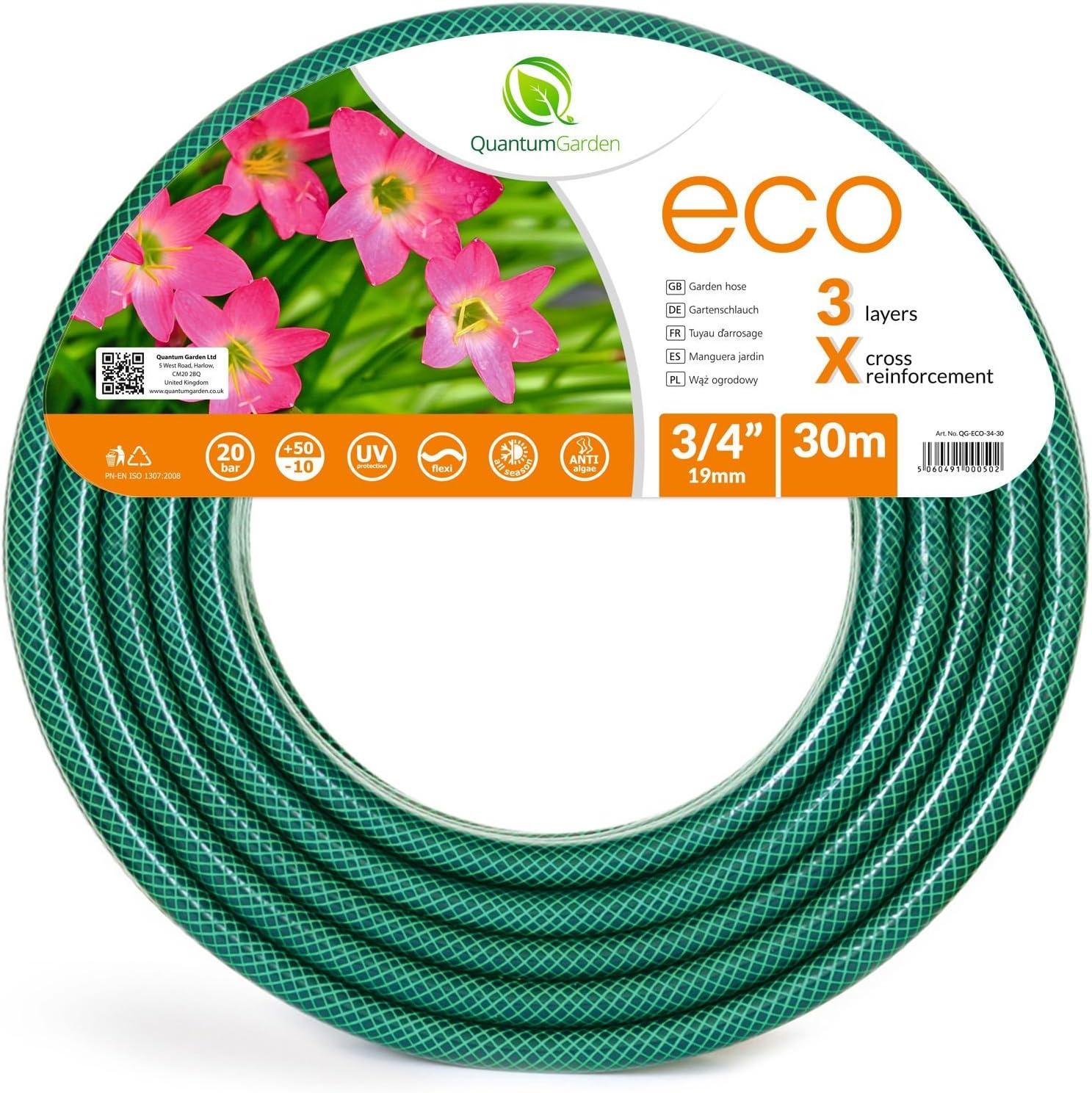 Quantum Garden - Manguera de jardín Reforzada, Color Verde: Amazon.es: Jardín