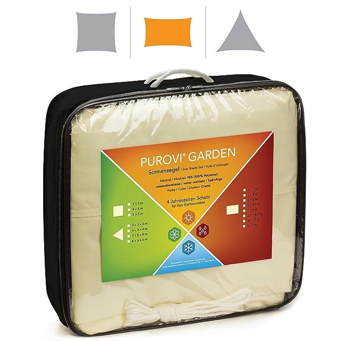 Purovi® Toldo Rectangular | Varias Dimensiones | Protección UV | PES Impermeable | 3, 5 x 4, 5 m: Amazon.es: Jardín