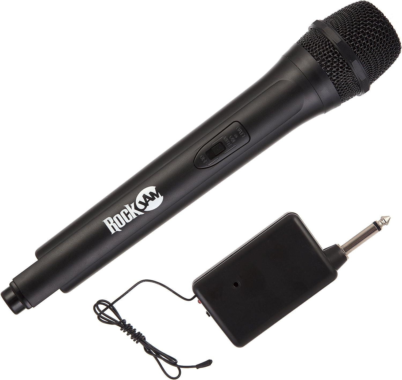 RockJam RJWM33-BK de alta fidelidad micrófono inalámbrico para el Karaoke y Home - Negro