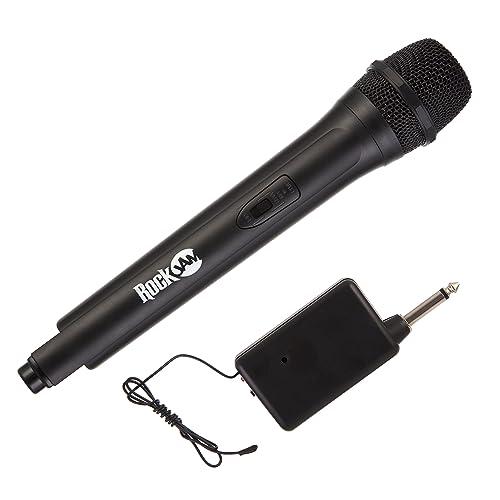 RockJam High Fidelity Microphone sans fil pour karaoké et utilisation professionnelle und professionelle und noir