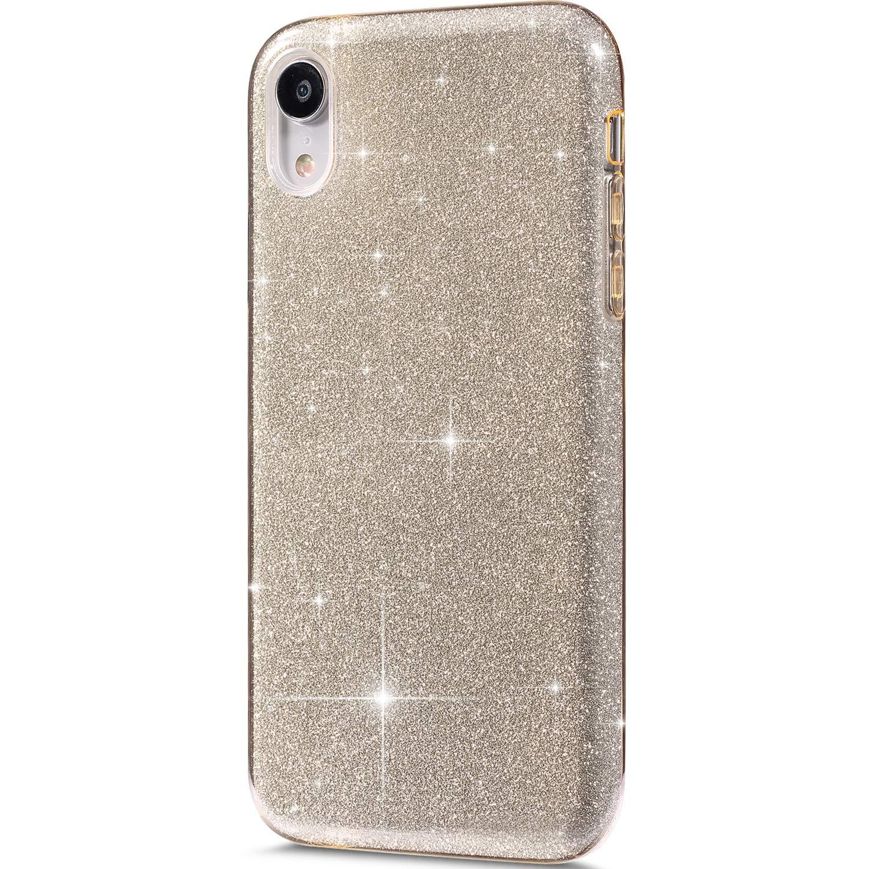 Felfy Glitter Carcasa Compatible con iPhone XR Funda Brillante Brillo Purpurina Roja Lentejuelas Cover Transparente Silicona TPU y Glitter Bling r/ígido PC Ultra Fina Protectora Hard Case