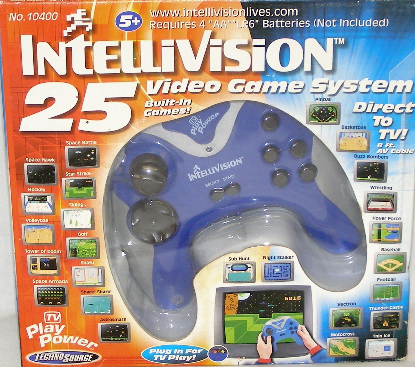 INTELLIVISION 25 VIDEO GAME SYSTEM DIRECT TO TV B00009P7J9