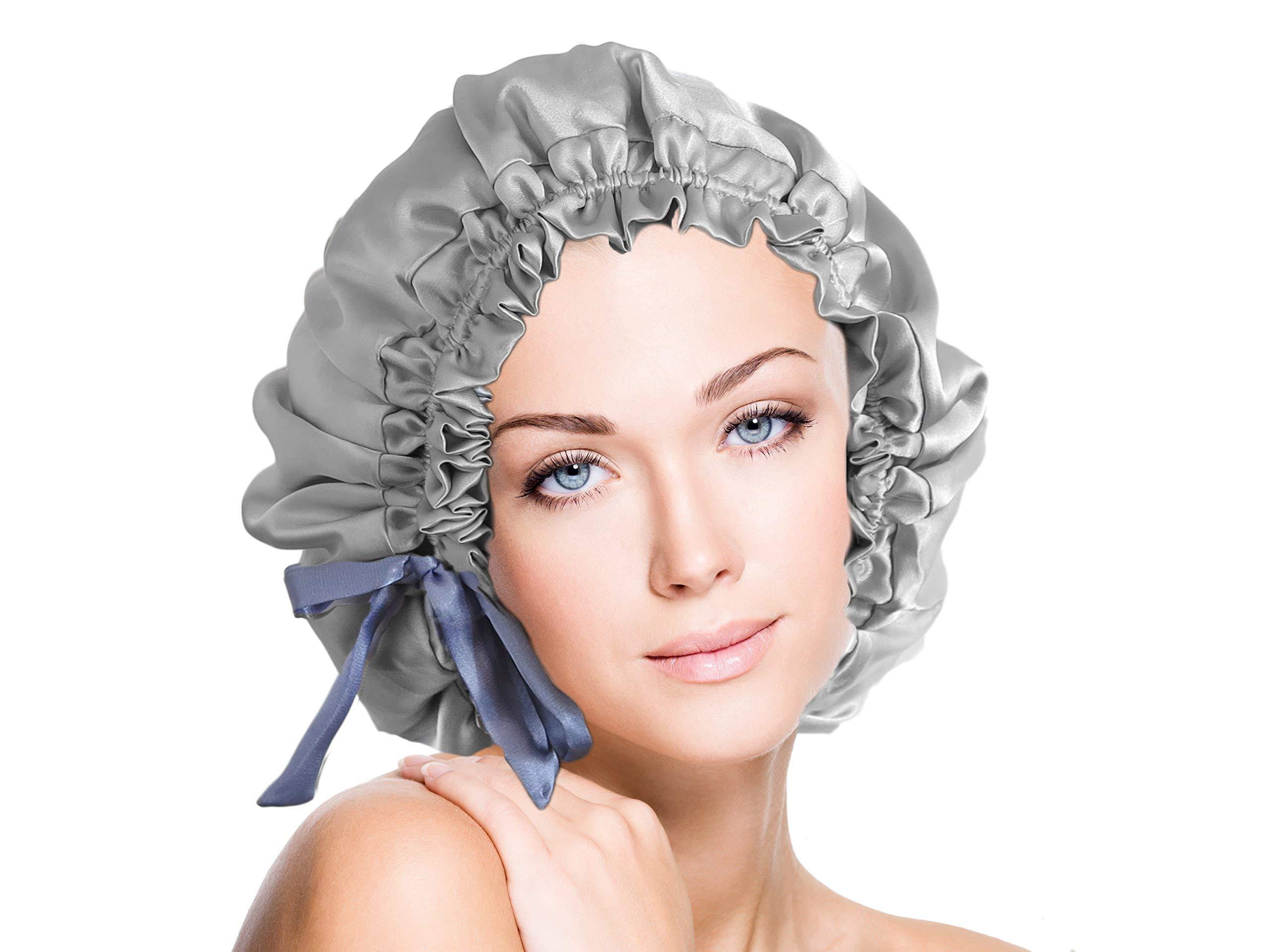 Italian Silk Hair Wrap Silk Sleep Cap Silk Bonnet Handcrafted by Vangobeauty One Size Fits Most