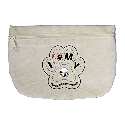 Canvas Zipper Pouch Bag I Paw My Dandie Dinmont Terrier Dog Style In Print  high- 8e007252ca64b