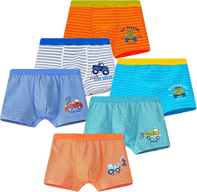 YoungSoul Boys Boxer Shorts 5 Pack Kids Underwear Briefs 2-12 Years
