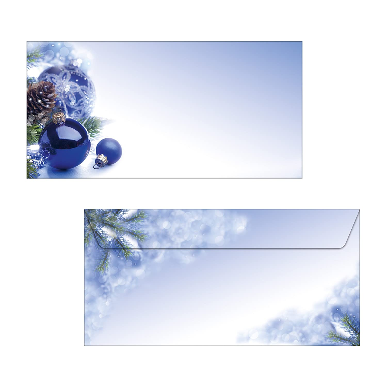 100 fg. 90 g SIGEL DP034 Carta a tema natalizio // da lettere natale A4 Blue Harmony