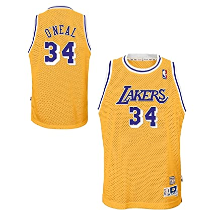 befae06b2 Shaquille Oneal Los Angeles Lakers Youth Yellow Swingman Jersey (Small)