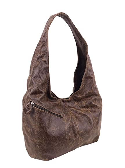 7d0295fab131 Amazon.com  Fgalaze Distressed leather Hobo Bag with Pockets