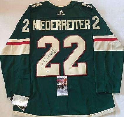 meet b319f 3f380 Nino Niederreiter Autographed Jersey - Adidas Adizero - JSA ...